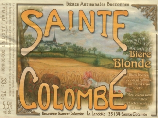 Sainte Colombe, Bière Blonde (bionda)